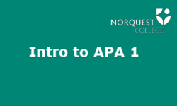 Intro to APA 1: Introduction