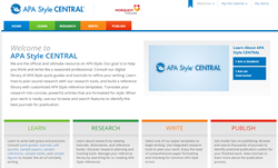 APA Style Central: Tutorials