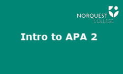 Intro to APA 2: Reference Citations